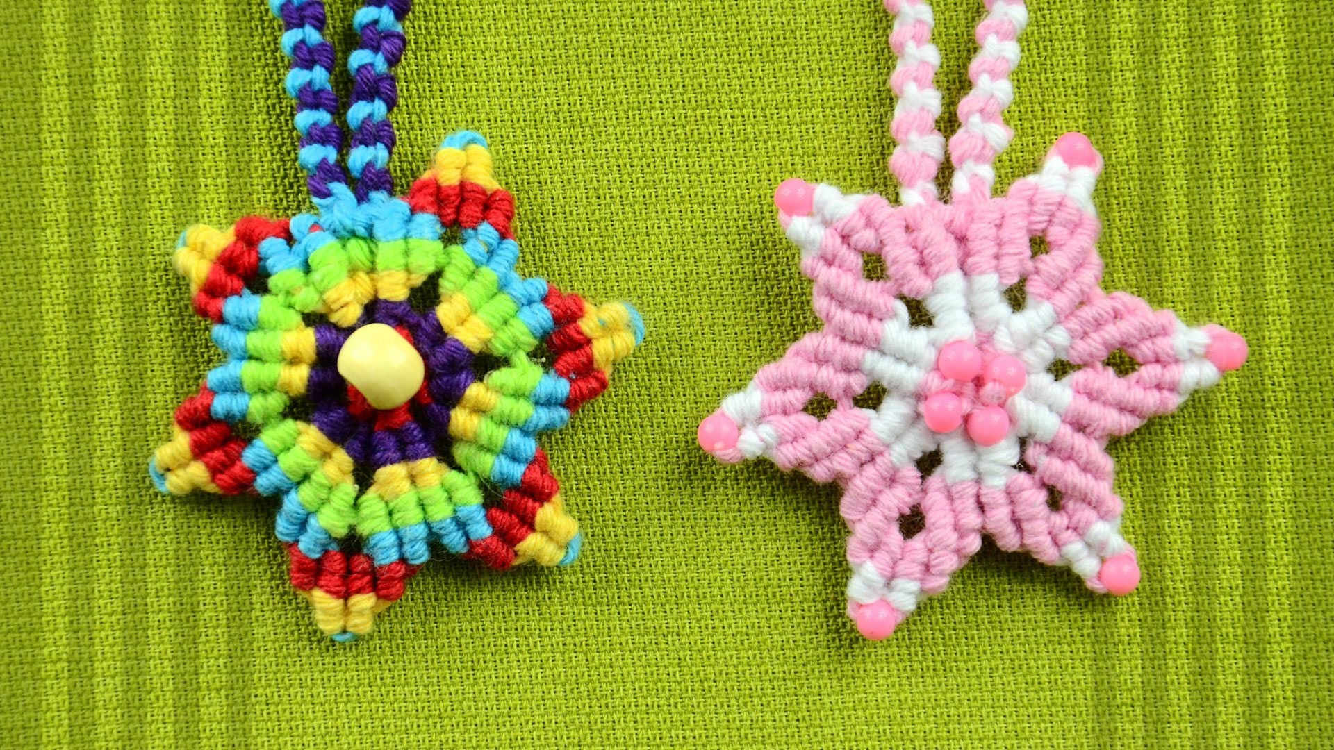 How to Make a Macrame Star Flower. Tutorial
