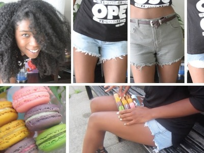 How To Make Cutoff Shorts with Fringe | High Waisted - StyleByNap85