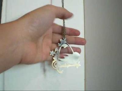 Little bird in the birdcage pendant