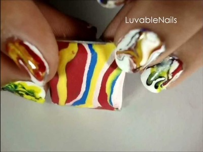 Marble Ring - Polymer Clay Jewellery by LuvableNails