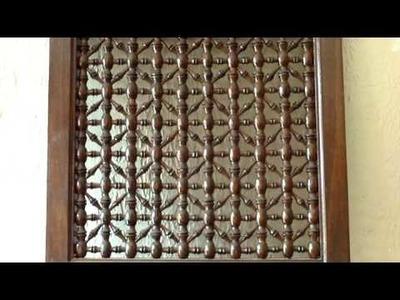 Moroccan wood lattice screens - Jali screens - Moroccan latticework - mashrabiyah