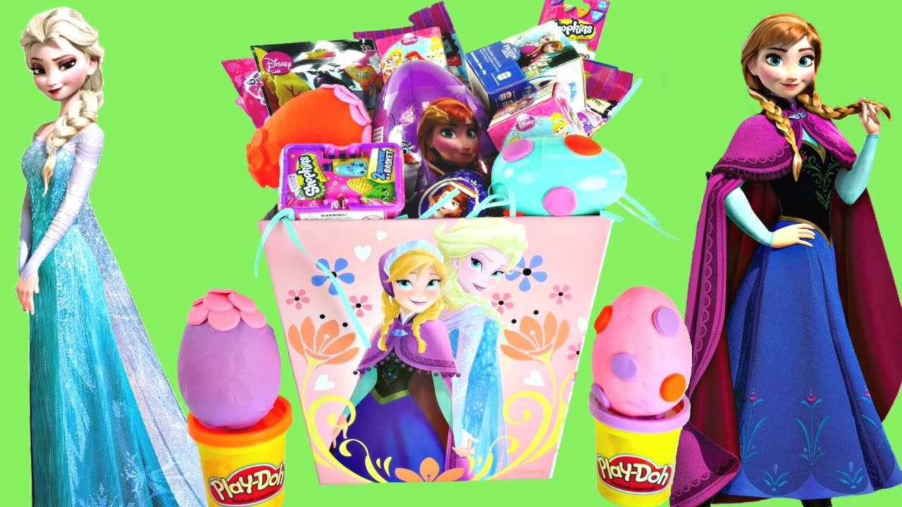 Play Doh Easter Surprise Eggs Basket Disney Frozen ★ Shopkins Princess My Little Pony Lalaloopsy Toy