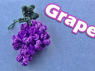 Rainbow Loom GRAPES Charm Design. Tutorial (Fruit, Food)