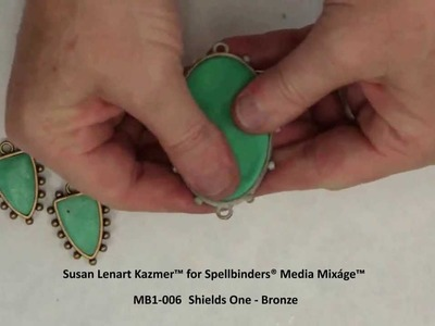 Spellbinders Media Mixage - Making Faux Turquoise with Polymer Clay