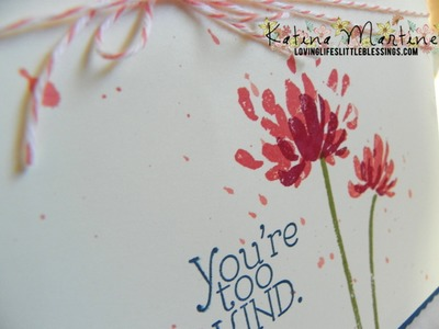 Stampin' Up Too Kind Card