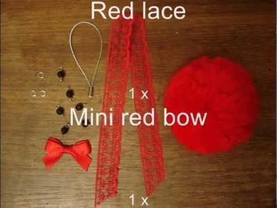 Tutorial: Bow & Lace Pompom Mobile Hanger