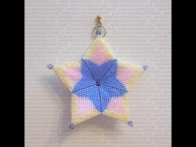 Tutorial Orecchini perline: Come fare una stella con perline 1.3 (Tecnica Peyote) | Tutorial Perline