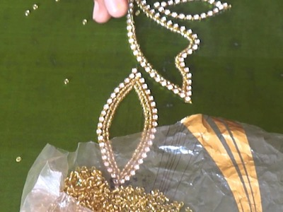 A full Design of Paani chain in Aari or Maggam work   tutorial 4