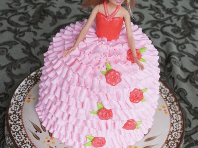 Barbie doll cake - how to decorate easily