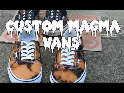 "Custom Bleached ""Magma"" Vans: DIY"