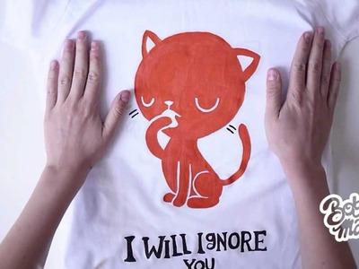 Custom painted T-shirt  Tutorial
