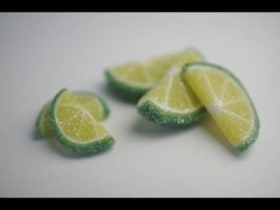 Gummy Lime Candy, Miniature food Tutorial, Polymer Clay Food