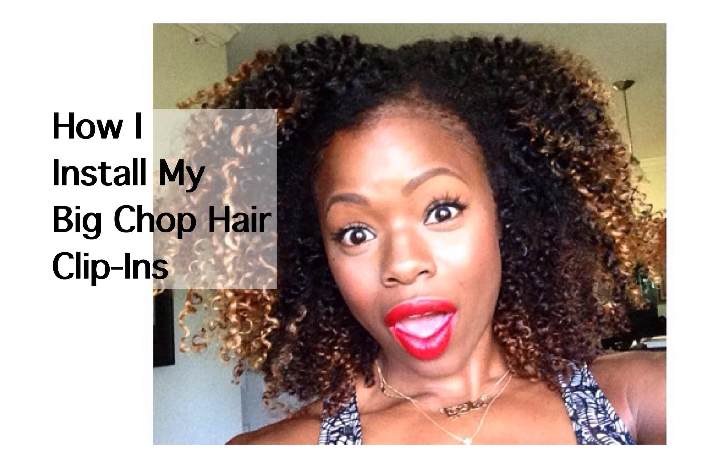 How I Install My Big Chop Hair Clip-Ins | MariaAntoinetteTV