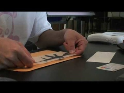 How to apply a die cut sticker.