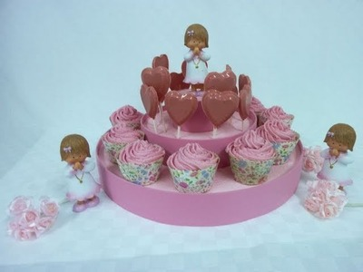 How to make a Baby shower cupcake or lollipop stand