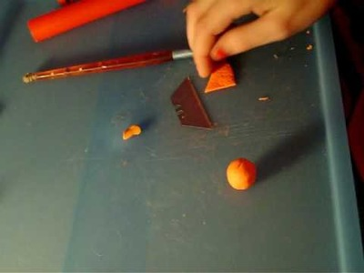 How to make an orange out of polymer clay!