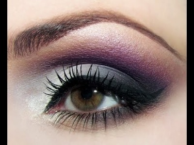 HOW TO: SOFT SMOKEY PURPLE GREY EYESHADOW (ROMANTIC) TUTORIAL