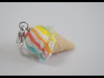 Ice Cream Cone Tutorial, Miniature Food Tutorial, Polymer Clay Tutorial