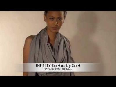 INFINITY SCARF - Ways to wear  #01 - Big Scarf