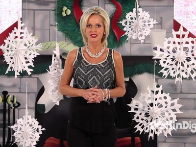 Large Hanging Snowflakes - Shindigz Christmas Decorations - - Party Supplies