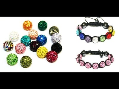 Learn how to make a Shamballa style bracelet