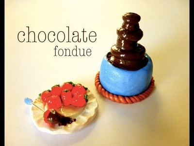 MINI CHOCOLATE FONDUE - Polymer Clay Tutorial