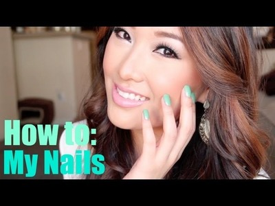 My Nail Routine! How I File, Shape & Paint - At Home Manicure (Nail Tutorial) - hollyannaeree