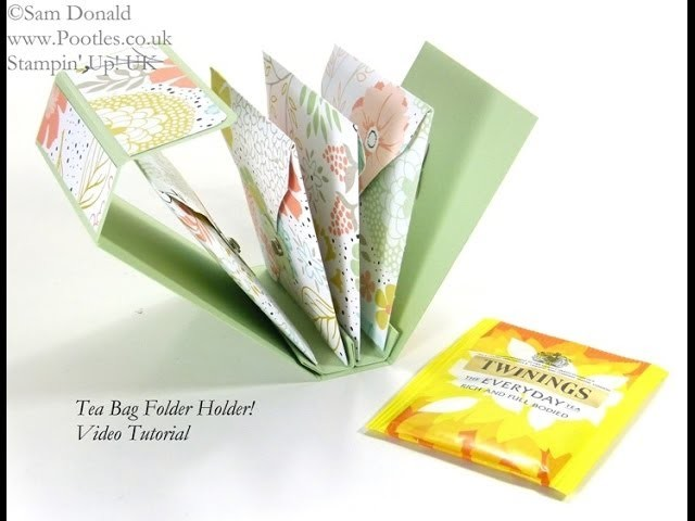 Tea Bag Holder Folder Tutorial