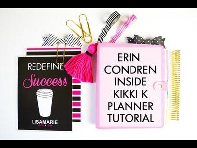 Tutorial | Erin Condren Inside A Kikki K Planner