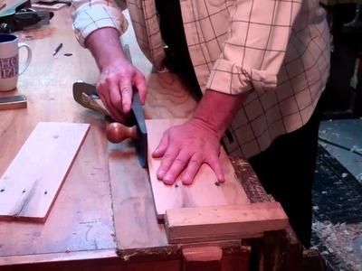 Using a shooting board & hand plane