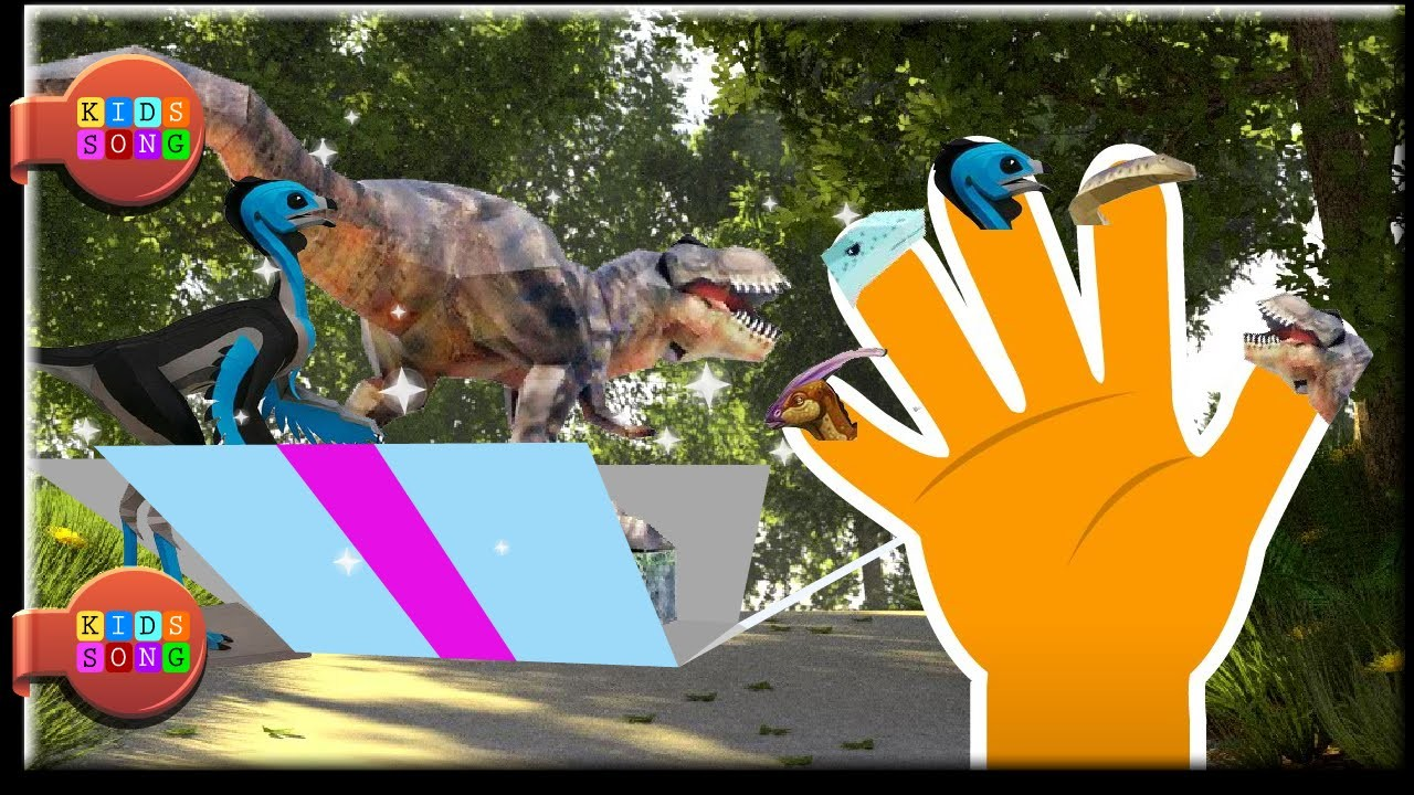 3D Dinosaur Papercraft finger family for Childrens Babies and Toddlers | kidss