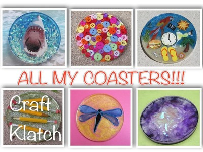 All My Coasters!!!   2012 to 2014   Craft Klatch