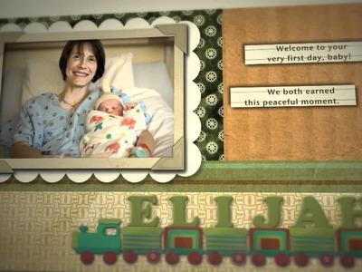 Baby Boy Scrapbook - Elijah