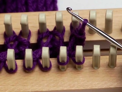 Bind Off of Loom and Anchor Yarn