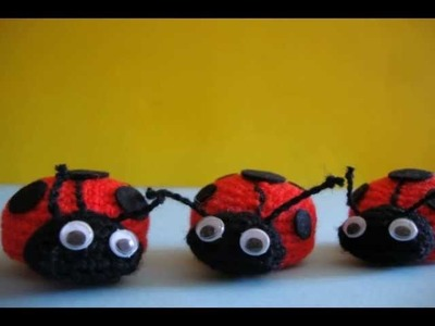 Coccinelle all'uncinetto.ladybugs crochet Stop Motion