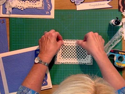 Craft Dies by Sue Wilson -- Tutorial Video -  Congratulations Blue Card for Creative Expressions