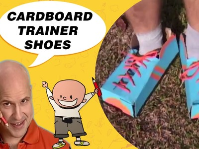 Crafts Ideas for Kids - Cardboard Trainer Shoes | DIY on BoxYourSelf