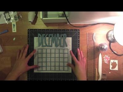 Cricut Designer's Calendar Artwork using CTMH