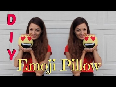 DIY Emoji Pillow - Easy No Sew tutorial