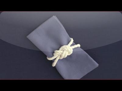 DIY Figure-8 Knot Napkin Ring - Martha Stewart Weddings