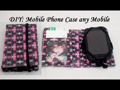 DIY How to make a Mobile Phone Wallet.Case (any cell phone)