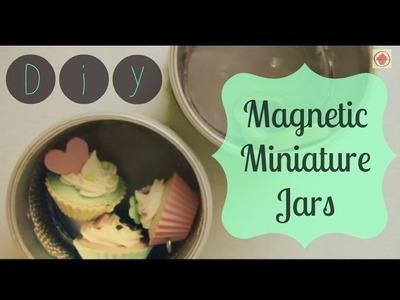 DIY: Magnetic Miniature Jars. Craft Storage