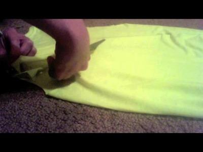 DIY:  Make a T-Shirt into a Halter Top