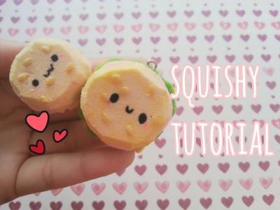 DIY mini burger squishy tutorial ♥