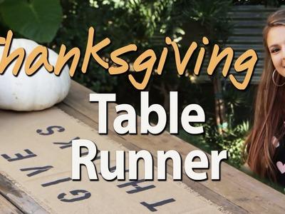 DIY Thanksgiving Table Runner with Socraftastic! #17Nailedit
