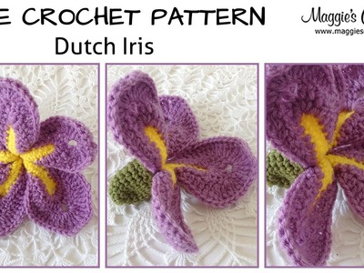 Dutch Iris Free Crochet Pattern - Right Handed