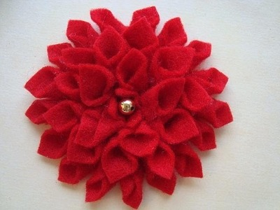 FELT FABRIC flower # 7 by carlitto, diy, how to make