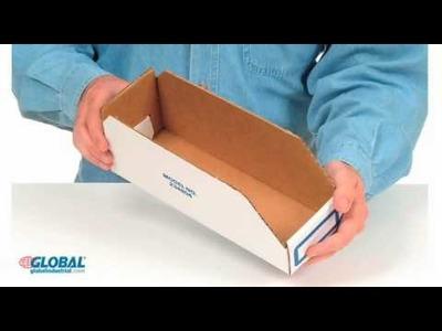 Heavy Duty Cardboard Shelf Bins
