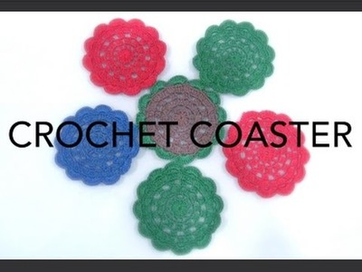 How To Crochet Coasters #3 (Christmas Idea)