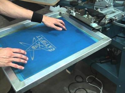 How To Screenprint: Screen & Shirt Press Tips